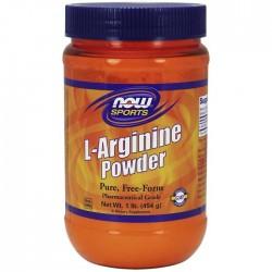 L-Arginine, 100% Pure Powder - 454 grams - Now / Αμινοξέα