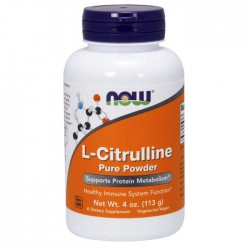 L-Citrulline, 100% Pure Powder - 113 grams - Now / Κιτρουλίνη