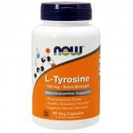 L-Tyrosine 750mg 90 caps - Now Foods