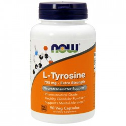 L-Tyrosine 750mg 90 caps - Now Foods