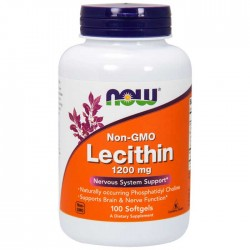 Lecithin 1200mg 100 μαλακά τζελ -  Now / Λιποδιαλύτης