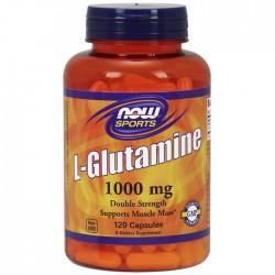 L-Glutamine, 1000mg - 120 caps - Now / Γλουταμίνη Αμινοξέα