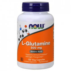 L-Glutamine 500mg 120  vcaps - Now Foods