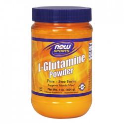 L-Glutamine, 5000mg (Powder) - 454 grams - Now / Γλουταμίνη Αμινοξέα