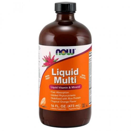 Liquid Multi 473ml orange - Now / Βιταμίνες