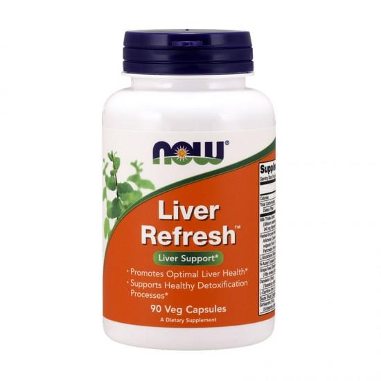 Liver Refresh 90 φυτοκάψουλες - Now / Συκώτι Ηπατοπροστασία