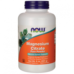 Magnesium Citrate Pure Powder 227γρ - Now / Μέταλλα