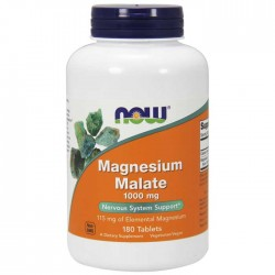Magnesium Malate 1000mg 180 ταμπλέτες - Now Foods