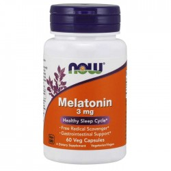 Melatonin 3mg 60 κάψουλες - Now / Αϋπνία - Στρες