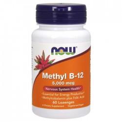 Methyl B-12 5000 mcg 60 παστίλιες Lozenges - Now