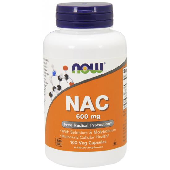 NAC N-Acetyl Cysteine 600mg 100 φυτοκάψουλες - Now / Ν-Ακετυλο-Κυστεΐνη Ειδικά Συμπληρώματα