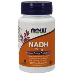 NADH 10 mg 60 φυτοκάψουλες - Now / Νιασίνη