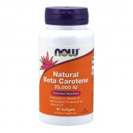 Beta Carotene 25.000IU 90 μαλακές κάψουλες - Now / Βιταμίνες