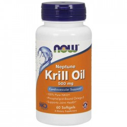 Neptune Krill Oil 500mg 60 softgels - Now Foods