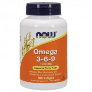 Omega 3-6-9, 1000mg - 100 softgel NOW Foods / Λιπαρά οξέα