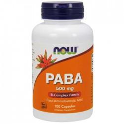 Paba 500 mg 100 caps - Now / Βιταμίνες