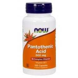 Pantothenic Acid 500mg 100 κάψουλες - Now / Βιταμίνη Β5