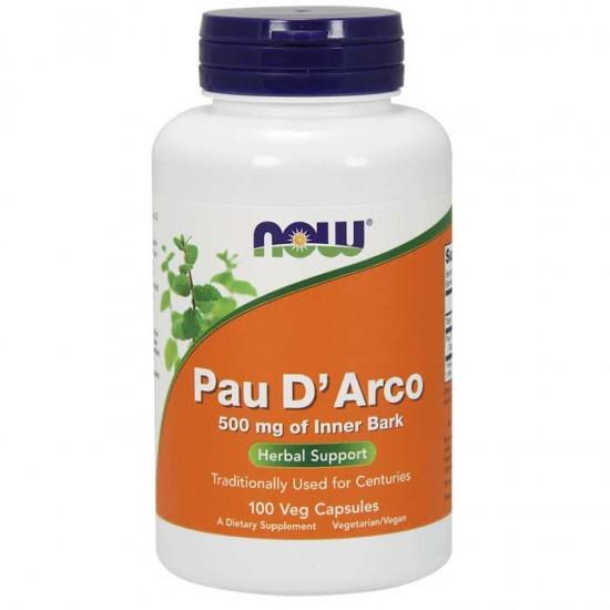 Pau D'Arco 500mg 100 φυτοκάψουλες - Now / Ανοσοποιητικό - Αντιμικροβιακό
