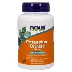 Potassium Citrate 99mg 180 κάψουλες - Now Foods / Κιτρικό Κάλιο