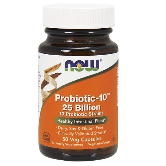 Probiotic - 10, 25 Billion 50 φυτοκάψουλες - Now / Προβιοτικά
