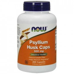Psyllium Husk 500mg 200 caps - Now Foods