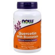 Quercetin with Bromelain 120 φυτοκάψουλες - Now / Ισχυρό Αντιοξειδωτικό