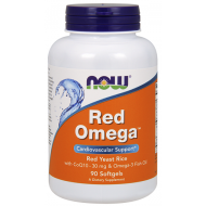 Red Omega 1000mg με CoQ10 & Omega-3 Fish Oil 90 μαλακές κάψουλες - Now / Καρδιαγγειακή Λειτουργία