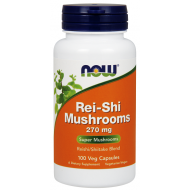 Rei-shi Mushrooms 270mg 100 φυτοκάψουλες - Now / Ειδικά Συμπληρώματα