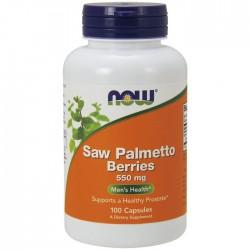 Saw Palmetto Berries, 550mg - 100 caps - Now / Προστάτης - Ουροποιητικό