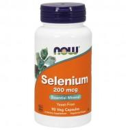 Selenium 200mcg 90 φυτοκάψουλες - Now Food / Σελήνιο - Μέταλλα