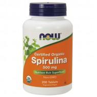 Spirulina 500mg 200 ταμπλέτες - Now / Σπιρουλίνα