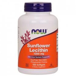Sunflower Lecithin 1200mg 100 τζελ - Now / Λιποδιαλύτες