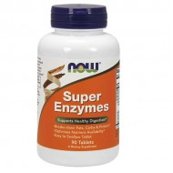 Super Enzymes - 90 tablets - Now / Ένζυμα