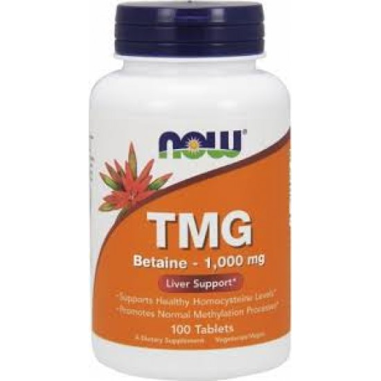 TMG Betaine - 1,000mg Liver Support 100 ταμπλέτες Now Food / Συκώτι - Ηπατοπροστασία