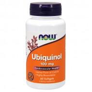 Ubiquinol, 100mg - 60 softgels NOW Foods / Ένζυμα CoQ10