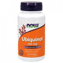 Ubiquinol, 100mg - 60 softgels NOW Foods / Ένζυμα CoQ10