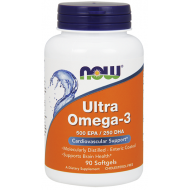 Ultra Omega 3 Now 500 EPA / 250 DHA 90 μαλακές κάψουλες / Λιπαρά Οξέα