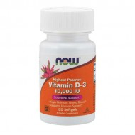 Vitamin D-3 10000iu 120 Veg Capsules - Now Foods