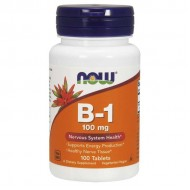 Vitamin B1 100mg 100 ταμπλέτες - Now Foods