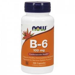 Vitamin B6 100mg 100 κάψουλες - Now Foods