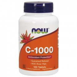 Vitamin C-1000 Sustained Release 100 Tablets - Now  / Βιταμίνη C αργής αποδέσμευσης