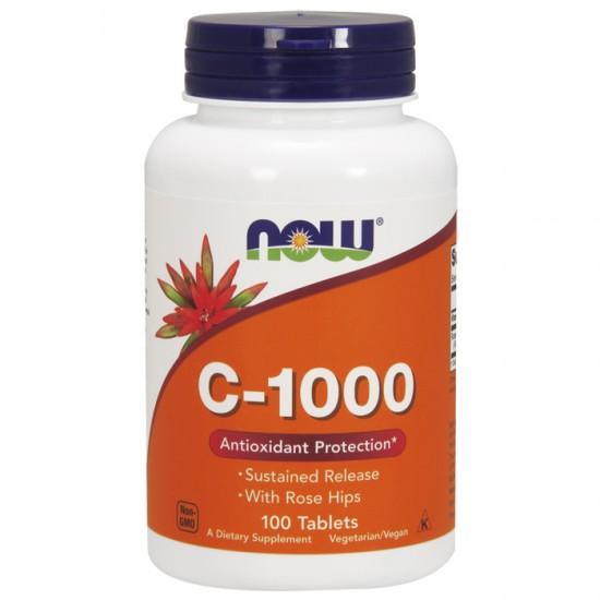 Vitamin C-1000 Sustained Release 100 Tablets - Now  / Βιταμίνη C αργής αποδέσμευσης