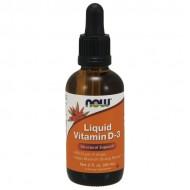 Vitamin D-3 Liquid 400IU 60ml - Now / Βιταμίνη D3