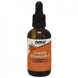 Vitamin D-3 Liquid 400IU 60ml - Now / Βιταμίνη D3