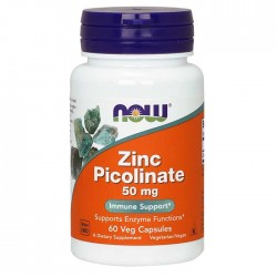 Zinc Picolinate 50mg 60 caps - Now Foods