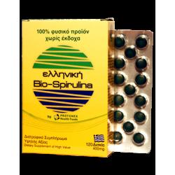 Ελληνική Bio-Spirulina 120 δισκία Protonex Health Foods 400 mg - Σπιρουλίνα