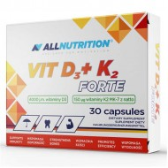 Vit D3 + K2 Forte 30 κάψουλές - Allnutrition / Βιταμίνες