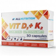Vit D3 + K2 30 caps - All Nutrition / Βιταμίνη D3 + K2