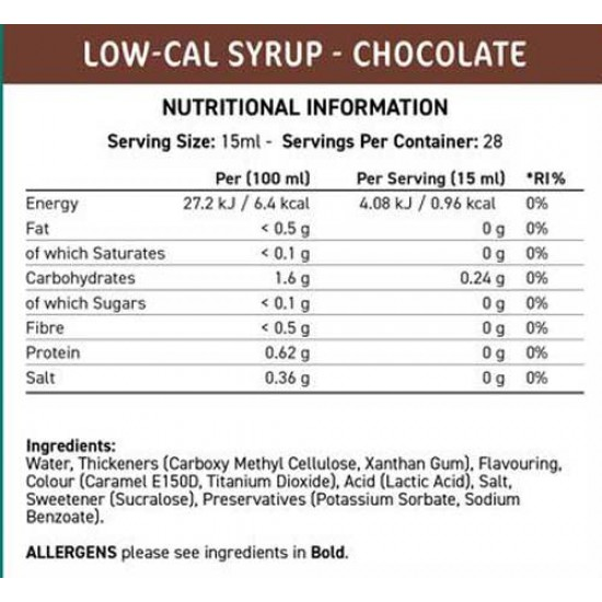 Fit Cuisine Low Cal Syrup 425 ml - Applied Nutrition