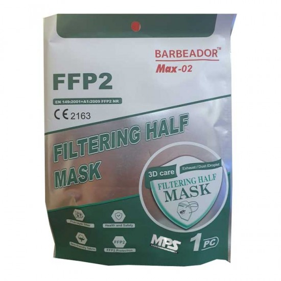 Max-02 Μάσκα Υψηλής Προστασίας FFP2 CE2163 20τμχ - Barbeador kn95